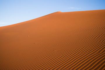 Sand Dunes in the Sahara Desert in Morocco