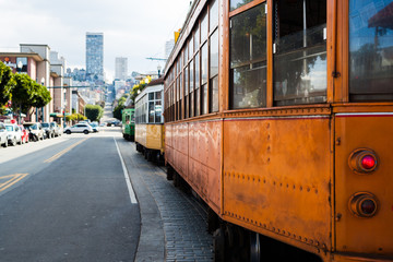 Old Cable Car in San Francisco