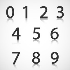 Paper numbers with reflection