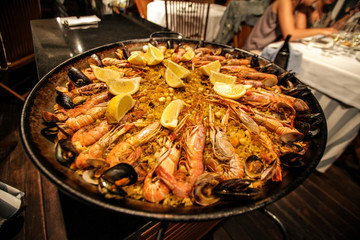 Traditional Paella in Barcelona, Spain