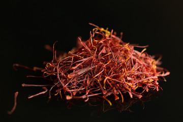 Saffron  with dark background