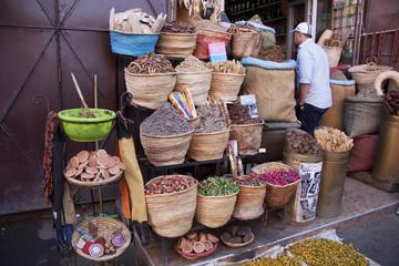 Fotobehang Marokko Marrakech souk