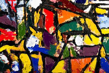 abstract art oil on canvas