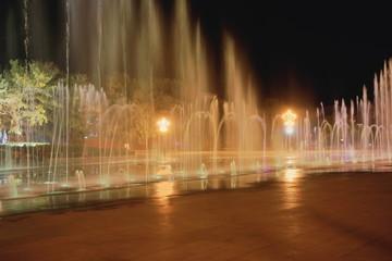 Potala palace-music fountain at night. Lhasa-Tibet-China. 1184