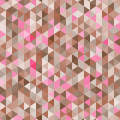 Amazing colorful pink-brown vintage geometric mosaic pattern