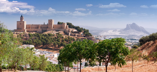 Castle fortress Real Colegiata de Santa Maria La Mayor, Antequer Fototapete