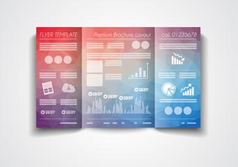 Vector tri fold brochure template design or flyers