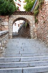 Archway to city of Cuenca, province Cuenca, Castilla-La Mancha,