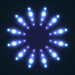 Abstract glowing background with light spots