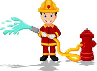 cartoon fireman