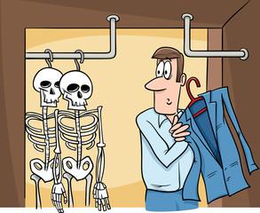 skeletons in the closet cartoon