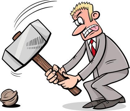sledgehammer to crack a nut