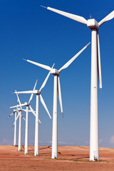 Poster Molens windmills for electric power production