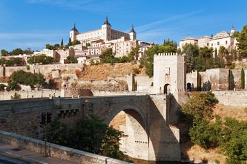 Alcazar, San Martin bridge, Toledo, Spain
