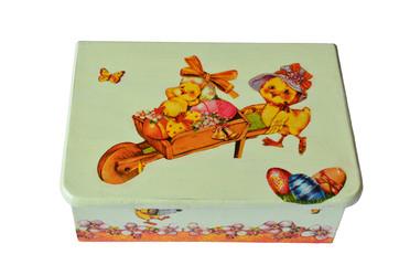 Easter chicken wooden box