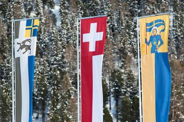 Swiss flag graubunden