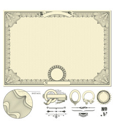 blank certificate background with delicate guilloche border