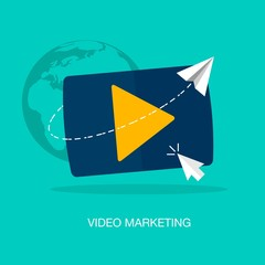 vector modern video marketing concept illustration