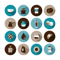 set of vector coffee icons