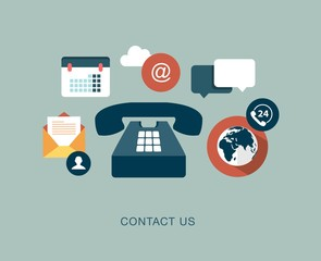 vector contact us concept illustration