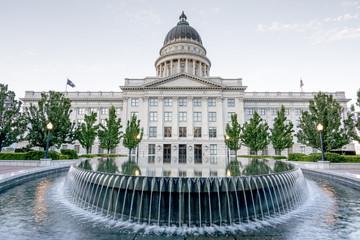 Fototapete - Unique view of the Utah capital building