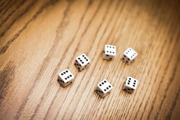 Throwing six dice and getting a perfect score !