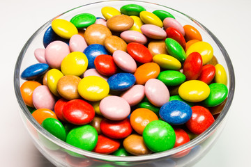 Colorful close up of chocolate candy.