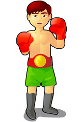Boy boxer vector icon