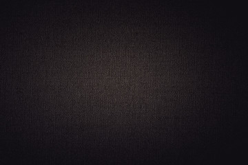 Dark Linen texture background with delicate vignette
