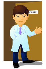 Caricature of a doctor