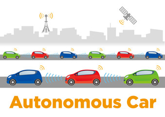 Autonomous car image illustration