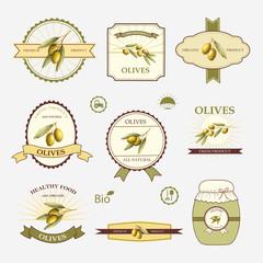 Olives, set of label design