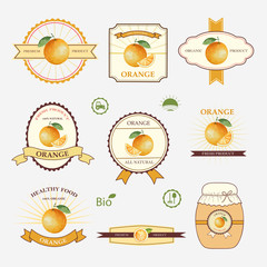 Orange, set of label design