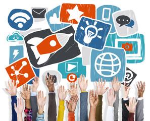 Media Social Media Social Network Internet Technology Concept