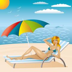 sexy woman in bikini on the beach 2