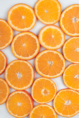 background of  bright orange slices