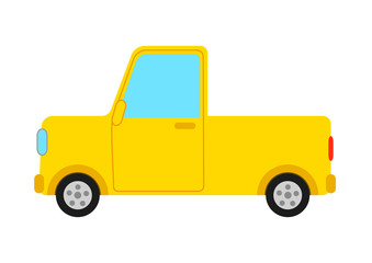 黄色のトラック