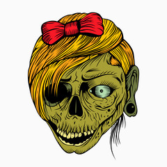 It is a girl's head zombie.