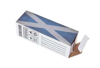 Concept of export - Product of Scotland