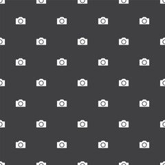 photo camera, vector seamless pattern .