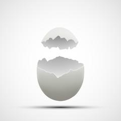 Vector icons broken chicken egg