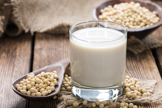 Glass with Soy Milk