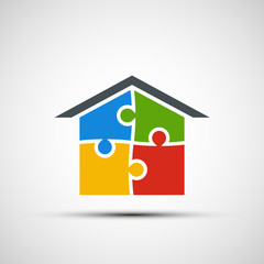 Vector real estate in the form of puzzles