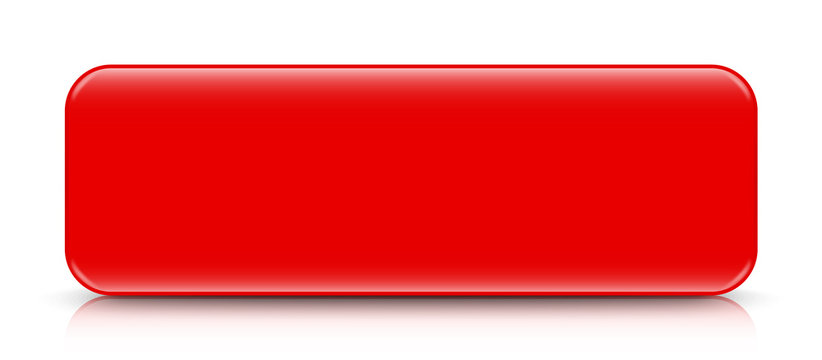 long red button template with reflection