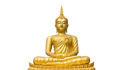 Buddha statue on isolate white background