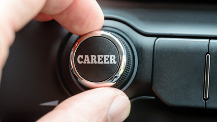 Turning a dial with word Career