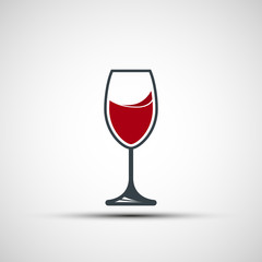 Vector logo wineglass