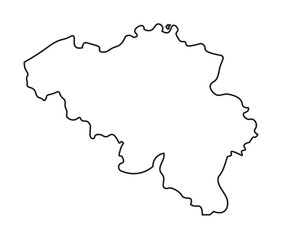 black abstract map of Belgium