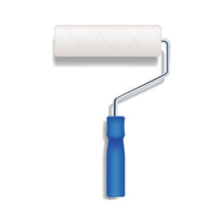 vector realistic paint roller