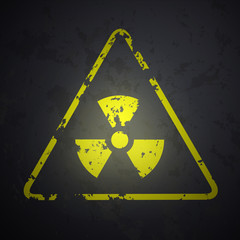 vector danger sign of radioactivity